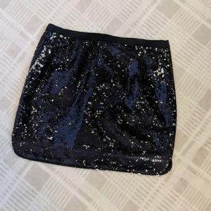 J. Crew Sequined Mini Skirt